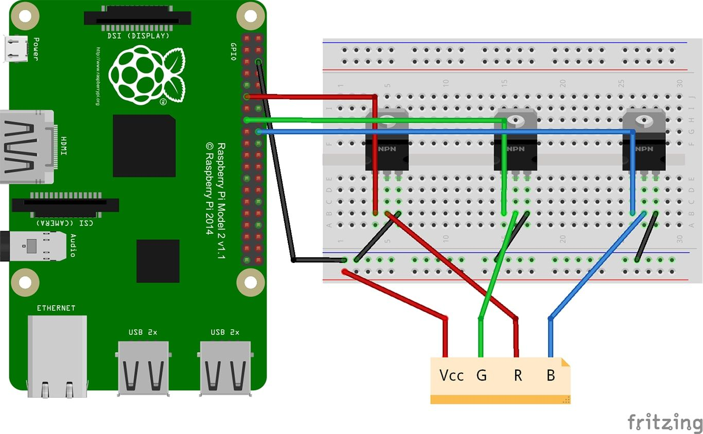 Tutorial How To Control A Led Strip With Raspberry Pi En De Tri Color Circuit Controller 1 4