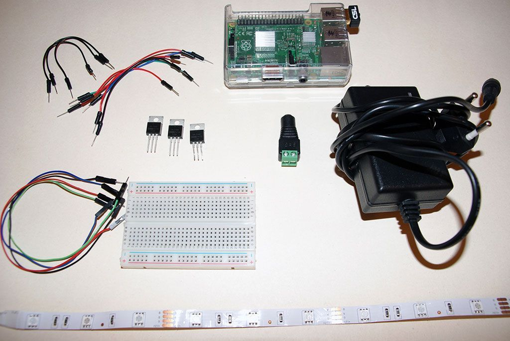 Tutorial: How to control a LED-Strip with a Raspberry Pi | EN+DE